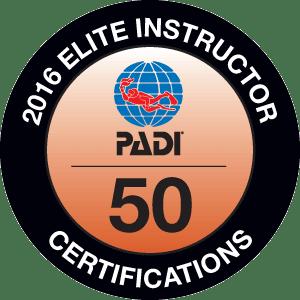 PADI Elite Instructor 2016