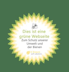 Siegel nachhaltige Webseite